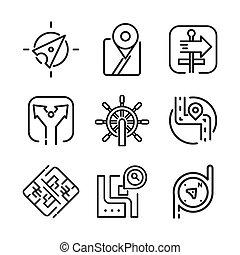 navigational icon set vector illustration design