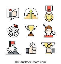 achievement icon set color