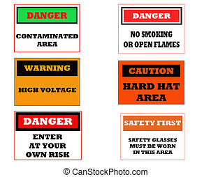 industrial caution signs