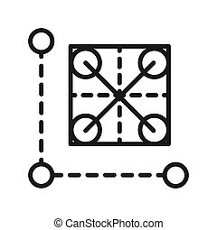 prototype grid vector illustration design