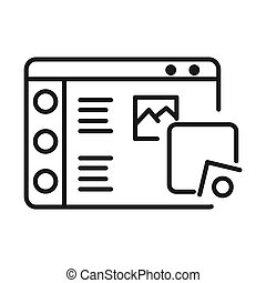 wireframe sketching vector illustration design