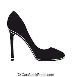 Stiletto icon in black style isolated on white background....