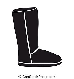 Boots icon in black style isolated on white background Shoes...