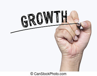 growth written by hand