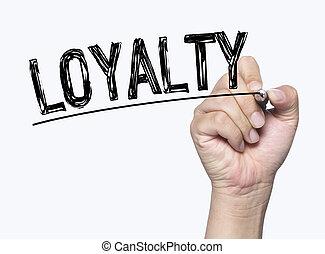 loyalty written by hand