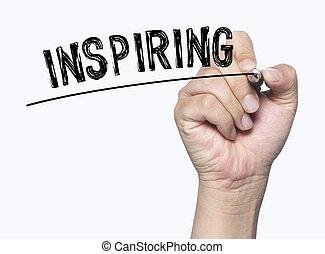 inspiring written by hand