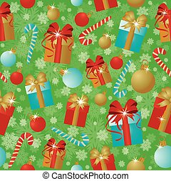 New Year and Merry Xmas seamless background, vector...