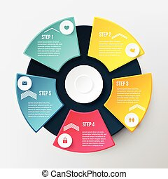 Concept for Business with Five Options - Vector Infographic...