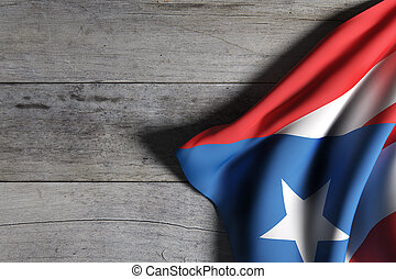Commonwealth of Puerto Rico flag waving - 3d rendering of...