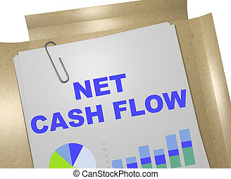 Net Cash Flow concept - 3D illustration of 'NET CASH FLOW'...