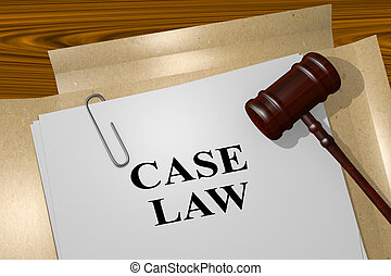 Case Law concept - 3D illustration of 'CASE LAW' title on...
