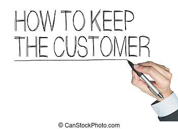 keep customer written by hand
