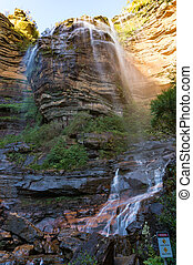 Wentworth Falls view from beneath. Vertical - Magnificent...