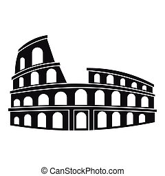 Roman Colosseum icon, simple style - icon. Simple...