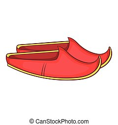 Turkish shoes icon, cartoon style