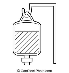 Package for blood transfusion icon, outline style - Package...