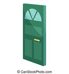 Cabinet door icon, cartoon style - Cabinet door icon....