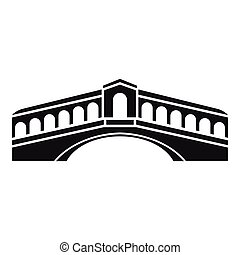 Venice bridge icon, simple style - icon. Simple illustration...