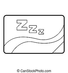 Medical card of sleep icon, outline style