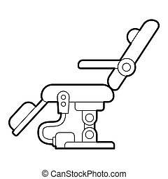 Dental chair icon, outline style - Dental chair icon....