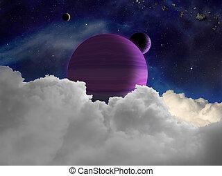 Fantasy alien space scene