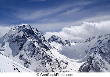 Mountains. Caucasus, Dombay-Ulgen.