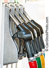 Fuel Pump - Detail of a Gray fuel pump