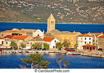 Town of Vinjerac in Velebit bay view, Dalmatia, Croatia