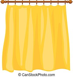 Vector illustration of abstract Cartoon yellow curtains on...