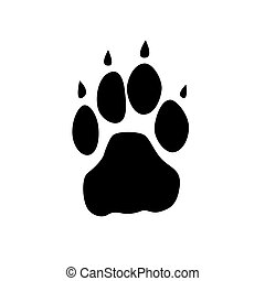 Animal foot step vector icon.