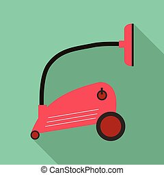 Vacuum cleaner icon, flat style - Vacuum cleaner icon. Flat...