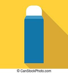 Thermos icon, flat style - Thermos icon. Flat illustration...