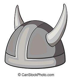 Metal combat helmet icon, gray monochrome style - Metal...