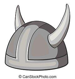 Metal combat helmet icon, gray monochrome style - Metal...