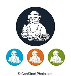 Icon of a Santa Claus - Santa Claus Holds in a Hand...
