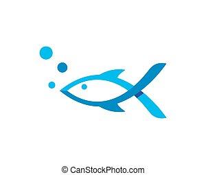 logotipo, peixe, modelo