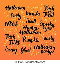 Happy Halloween Lettering Design. Vector Illustration of...