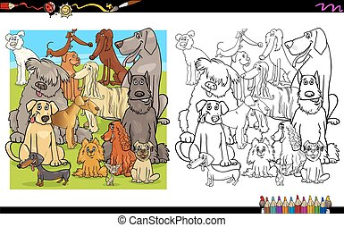 dog characters for coloring