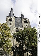 church in quedlinburg - church in german village quedlinburg...