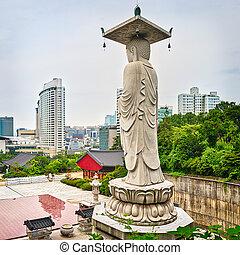 Bongeunsa temple. South Korea.