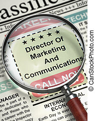 Director Of Marketing And Communications Hiring Now 3D -...