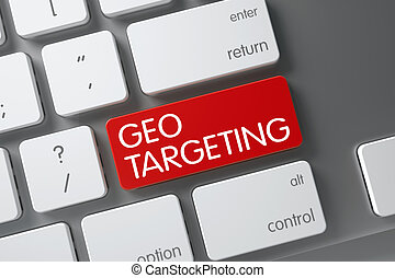 Keyboard with Red Keypad - Geo Targeting. 3D. - Geo...