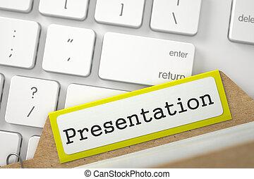 Sort Index Card with Inscription Presentation 3D Render -...