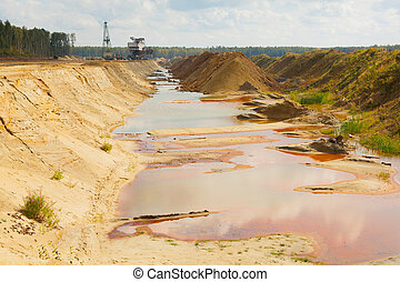 Ecological catastrophy in mud sand quarry - Ecological...