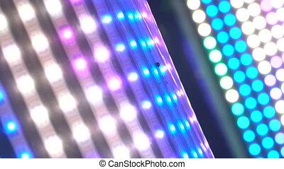 LED lights flicker in the dark