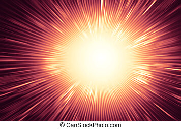 Full explosion background - Bright light exploding with rays...