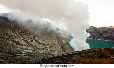 kawah ijen volcano nature footage background