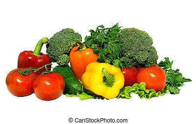 fresh vegetables - Different fresh tasty vegetables isolated...