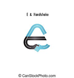 E- letter icon abstract logo design vector template.Business...