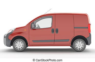 Urgent van to transport goods.